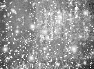 winter background with  various snowflakes