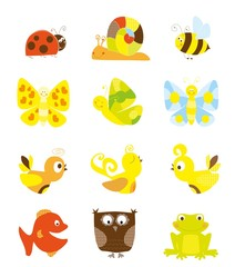 set of cute little creatures - vectors for children
