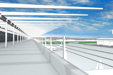 Flughafen Rendering Aussichtsplattform