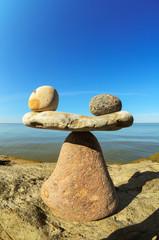 Equipoise beach stones