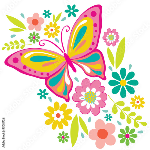 spring flowers and butterflies clipart wwwpixsharkcom