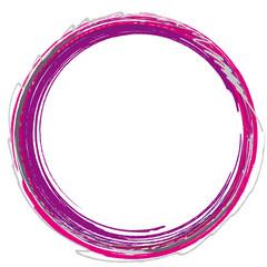runder Rahmen rot lila Kreis