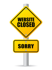 Website closed sign