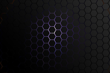 Abstract hexagon elements background