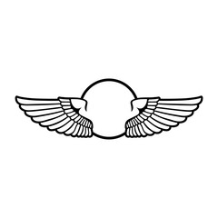 Circular Wings Badge