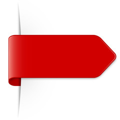 Long red arrow sticker with shadow & space for text