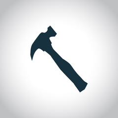 Hammer black icon
