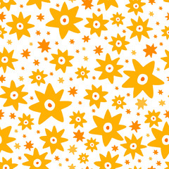 Abstract seamless pattern in vector.
