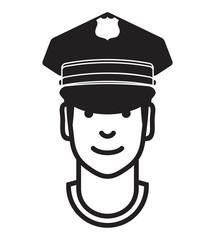 Policeman avatar. vector icon