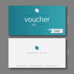 Modern Gift Voucher Template.