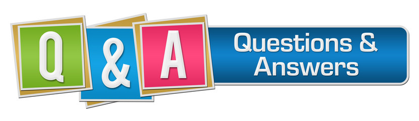 Q And A Colorful Squares Stripe Horizontal
