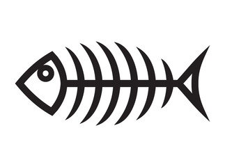 Fish bone vector icon