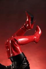 Schaftstiefel in rot