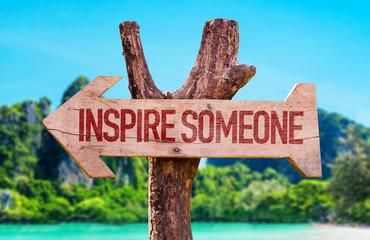 Inspire Someone arrow with beach background