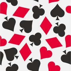 Cards Symbols Seamless Pattern