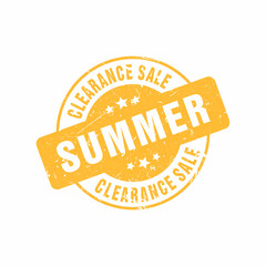 Vector Clearance Big Sale Summer stamp