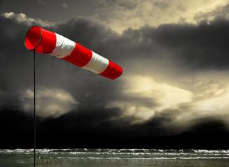 Sturmwarnung an der Küste
