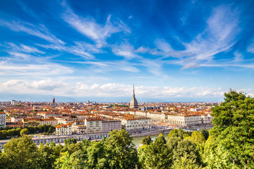 View of Turin city centre-Turin,Italy