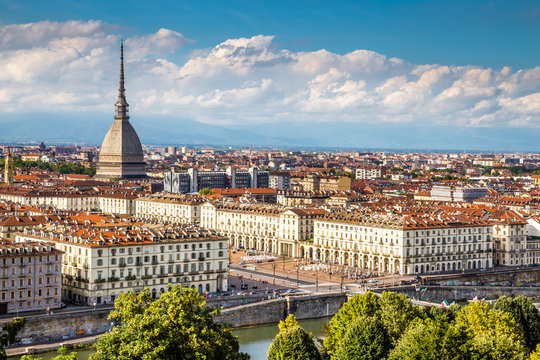 View of Turin centre with Mole Antonelliana-Italy