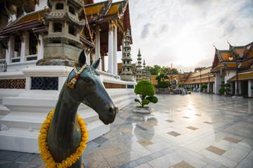 detail at temple in Bangkok, Thailand