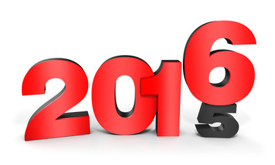 3d happy new year 2016 text