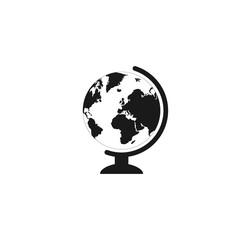 geography school earth globe web icon. vector illustration.