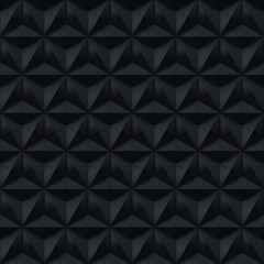 Black Stars Hexagons Triangles and Rhombus - square background