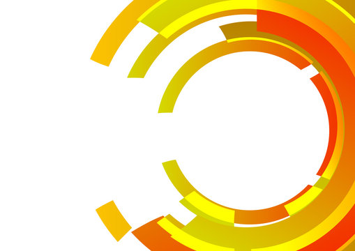 Vector : Abstract orange and yellow circle on white background