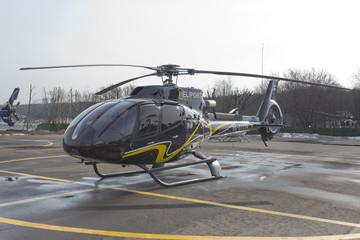 Вертолет Eurocopter. Московская область. Россия