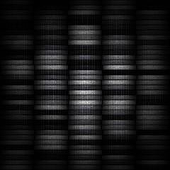Money in column. Coins stack as modern background. Dark tokens.