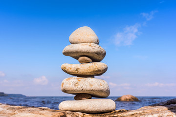 Stones balanced of each other