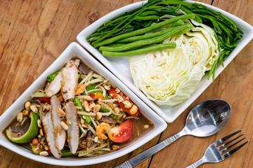 Papaya salad at thai food