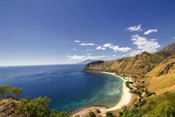 Exotic beach and deep blue sea in East Timor Wall mural