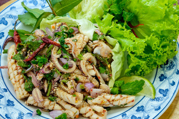 Octopus salad Spicy Seafood