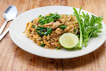 fried rice with pork, Thai cuisine