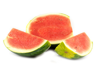 Halt watermelon on white background