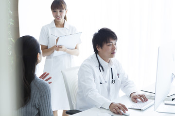 Women are subject to examination in internal medicine