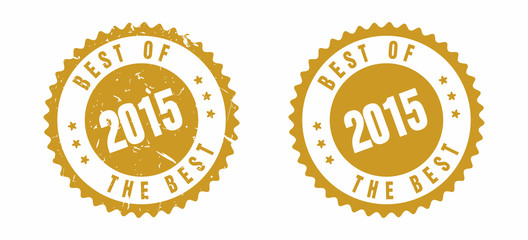 vector Best Of 2015 Rubber Stamp