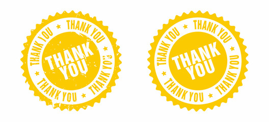 Vector Thank You Rubber Stamp