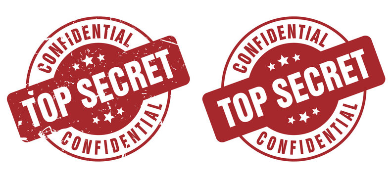 Vector Top Secret Confidential Classified stamp