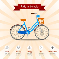 The benefits of ride a bicycle.