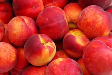 Heap of Fresh Organic Peaches background