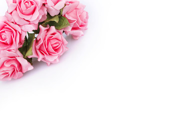 pink roses for greetings