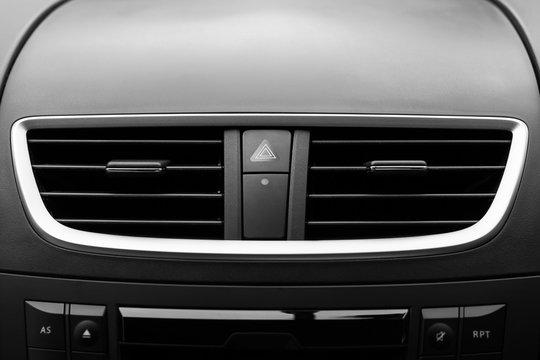 air conditioner in car. Modern car interior detail.