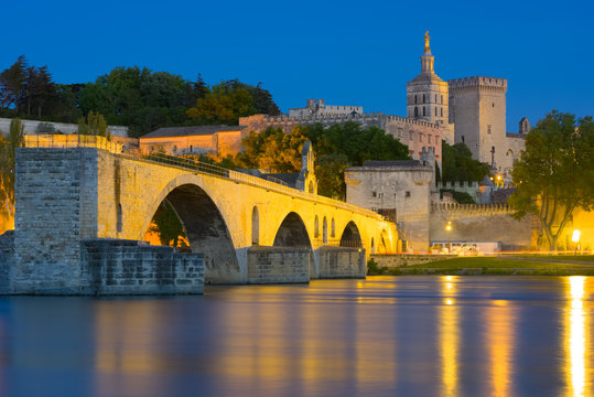 Avignon in a summer night