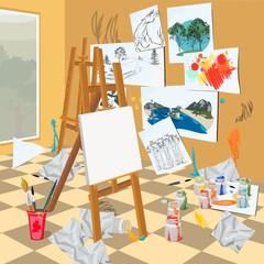 Art  workshop interior