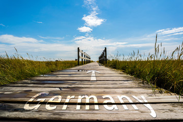 Steg Germany Schild