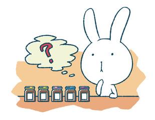 選び迷うウサギ
