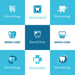 Dental Clinic Teeth Logo