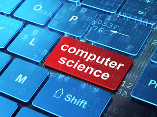Science concept: Computer Science on computer keyboard background
